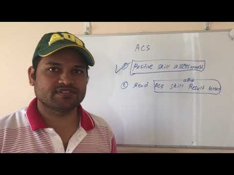 ACS Positive Skill Assessment | Qualification And Experience | Understanding Result Letter