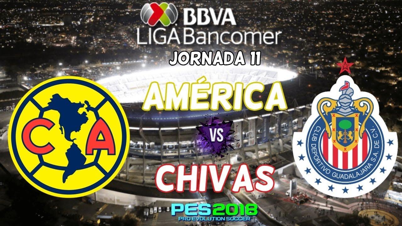 America Vs Chivas Jornada 11 Liga Mx 2018 En Vivo Online Live Stream Hd -  Fotos 12143a8097b53