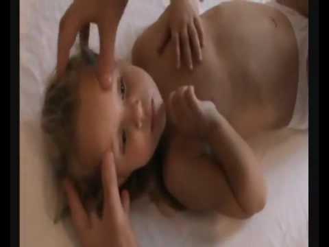 Массаж Туйна детям, при высокой температуре и жаре