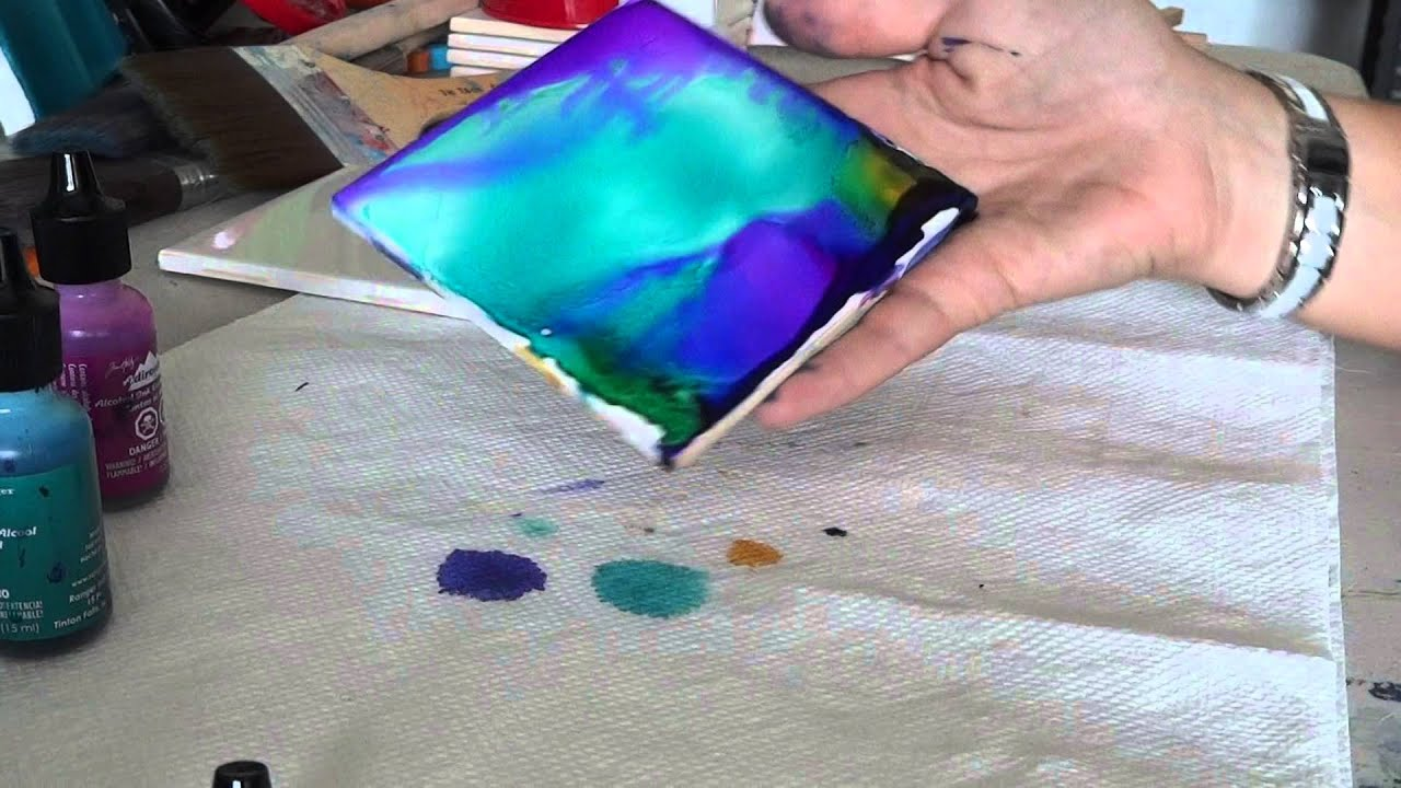 Alcohol ink tile coaster tutorial youtube alcohol ink tile coaster tutorial baditri Images