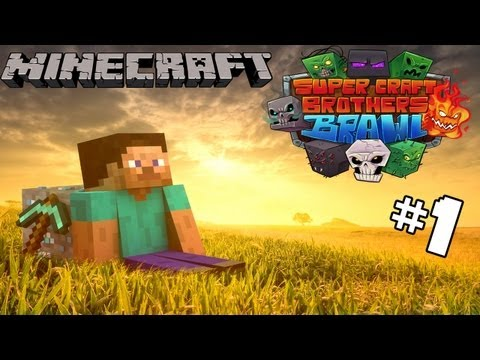 Minecraft Super Craft Bros. - A Noob Tries...
