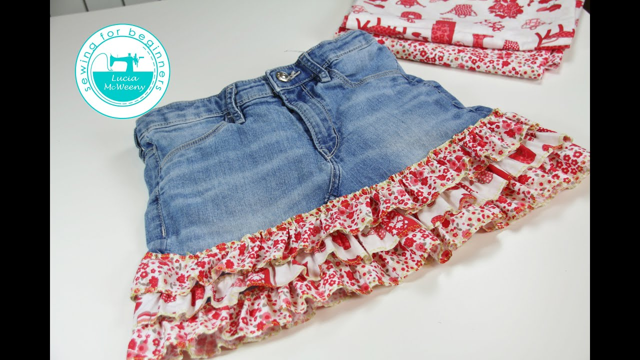 Upcycle Your Old Jeans And Make A Skirt Youtube