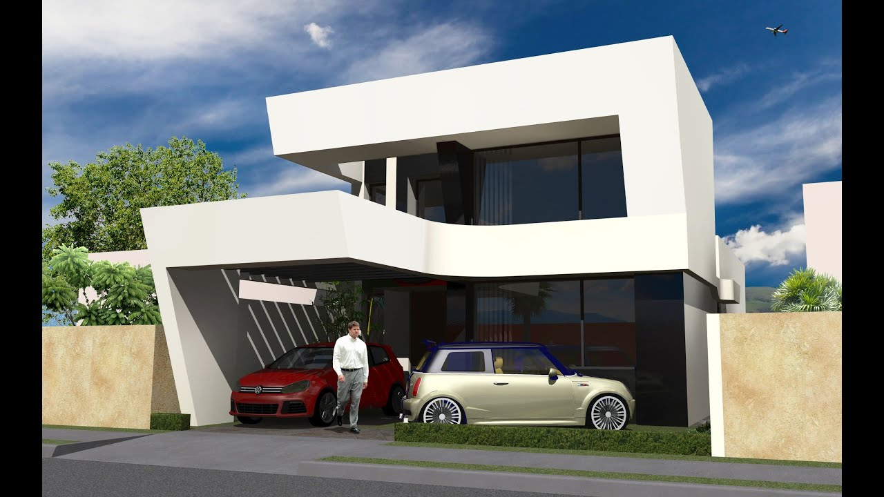 Casa moderna peque a en m xico de 117 m2 youtube for Casa modernas