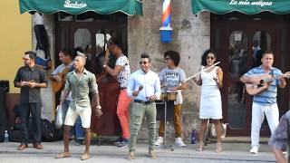 Son Cubanos & Salsa Dancing - In the streets of Havana - 16.02.2018 - LIVE !!!