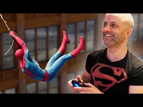SPIDERMAN 2's WebSwing Designer Plays SPIDERMAN PS4 for the First Time