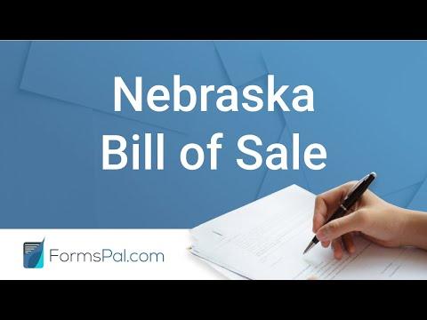 Nebraska Bill of Sale - GUIDE