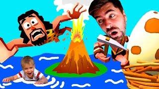 О Нет! КОНЕЦ СВЕТА? Человек АНТИСТРЕСС в мульт игре Faily Tumbler Карилл и ПАПА Играют для детей