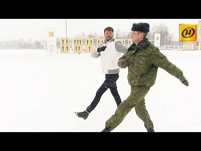 На армейском плацу с Германом Титовым