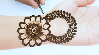 front hand henna design