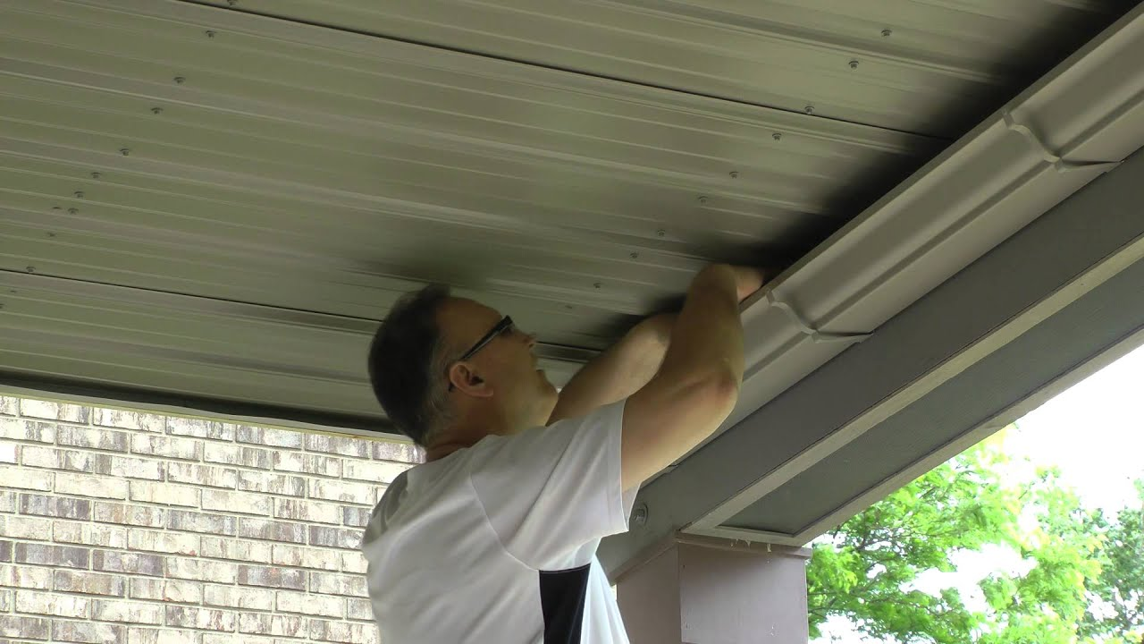 UNDER DECK SIDING INSTALL PART 03 ON A WALK OUT BY PIPEFITTERMIKE 636
