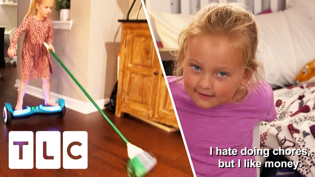 """""""I Want Infinity Money"""" Will Paying Kids Money for Chores Work?   OutDaughtered"""