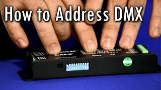 How to Address DMX LED Controller - Dip Switch Binary Code