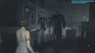 Resident Evil 2 Remake - Katherine Warren Meets 4 Mr.X's (livestream clip)