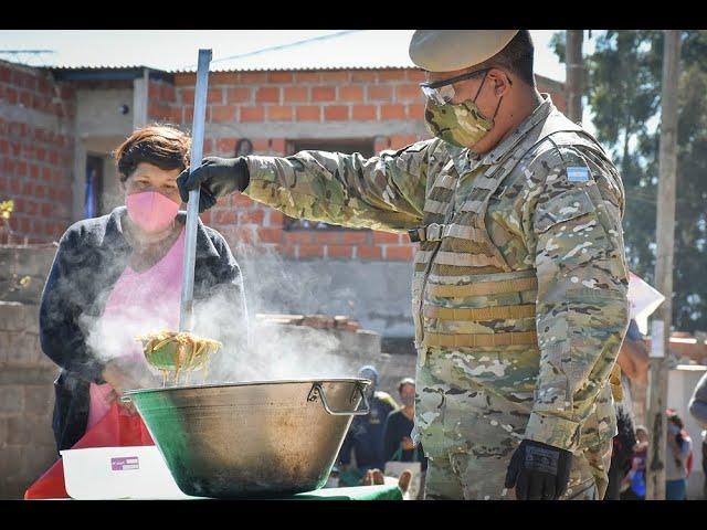 Desarrollo Social y Ejército coordinaron una nueva jornada de asistencia alimentaria 150520