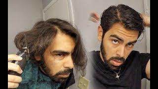 Self Haircut - L๐ng Hair | How to Cut Your Own Hair | How to Cut Long Men's Hair | Tip #25