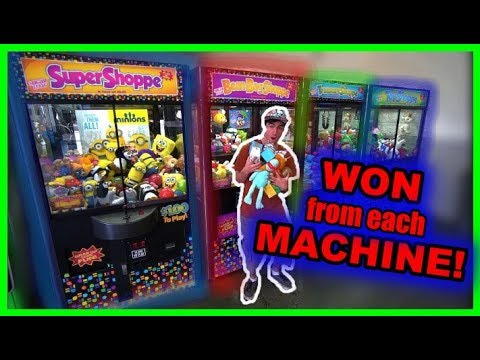 WINNING FROM EVERY CLAW MACHINE!!!!