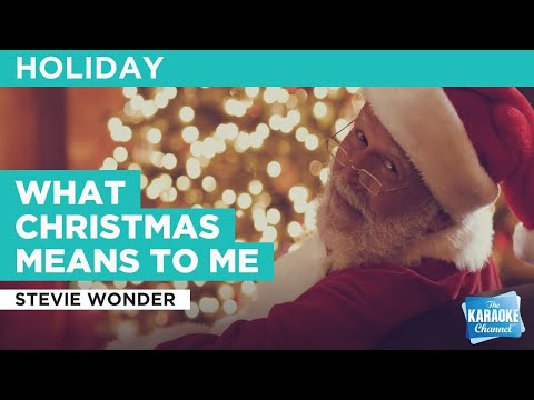 What Christmas Means To Me : Stevie Wonder | Karaoke With Lyrics