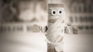 Как сделать мумию: поделки из туалетной бумаги