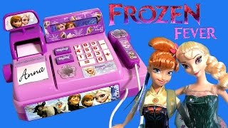 FROZEN FEVER Anna Elsa Birthday Party Mini Frozen Cash Register Disney PRINCESS FASHEMS Surprise