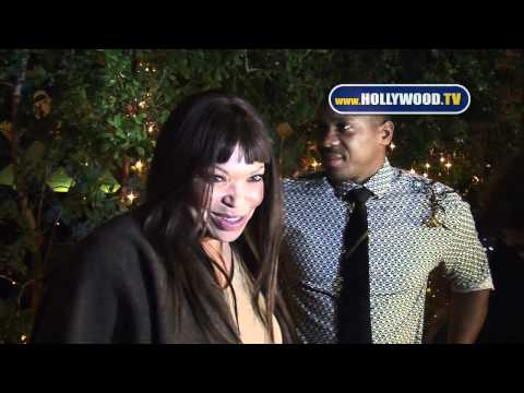 Tisha Campbell-Martin and husband Duane Martin chat it up at Mr. Chow