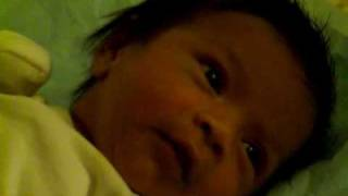 1 month old baby boy smiling - Little Dabbu Smiling