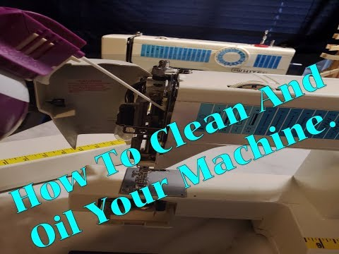 How To Clean And Oil A Sewing Machine YouTube Mesmerizing White Sewing Machine Model 622