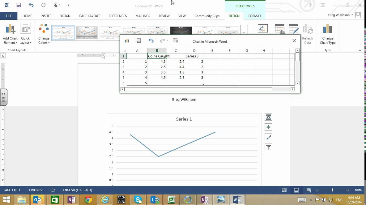 Creating a line graph in word youtube creating a line graph in word ccuart Choice Image