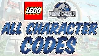 LEGO Jurassic World - All Character Codes