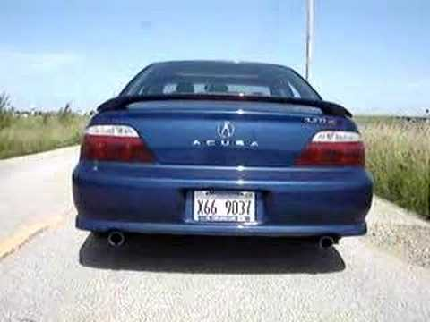 2002 Acura TL Type S Stock Exhaust - YouTube