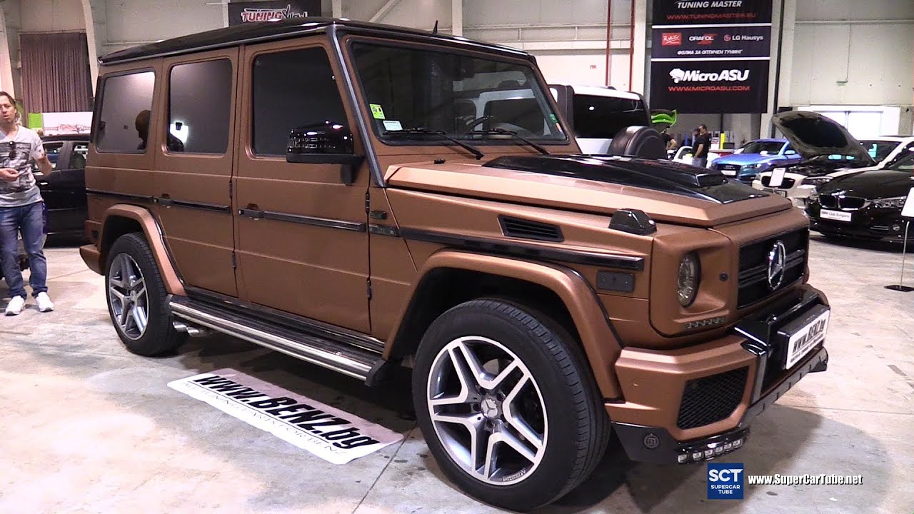 mercedes benz g class g63 exterior and interior walkaround tuning show 2016 sofia youtube. Black Bedroom Furniture Sets. Home Design Ideas