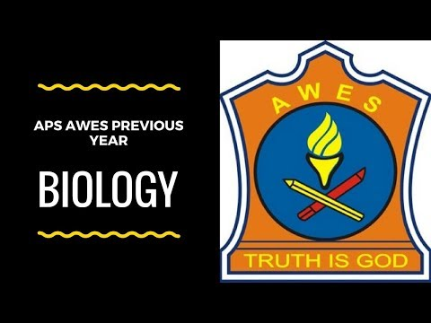 APS army public school previous year paper AWES PART-B BIOLOGY