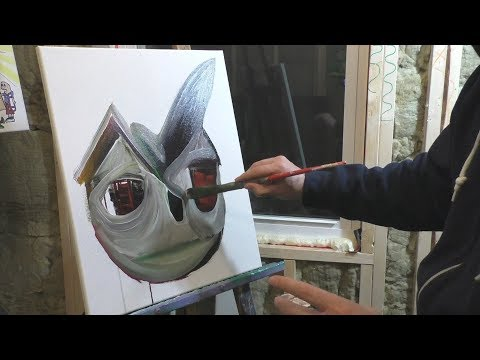 Live painting with Acrylic Paints Speed Art ABSTRACT ART