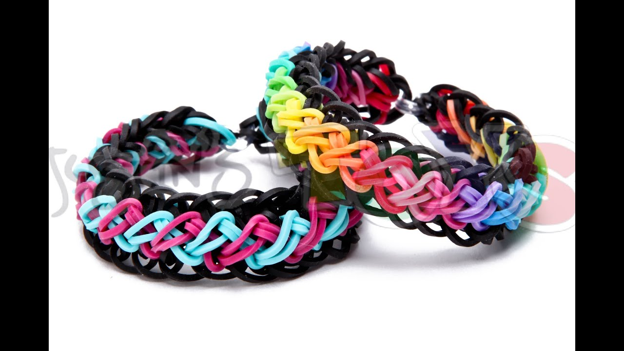 Rainbow Loom Criss Cross Over Braid Bracelet Requires