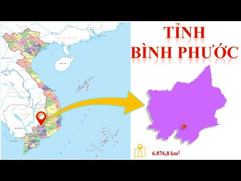 Bản đồ tỉnh Bình Phước -- Vị trí tỉnh Bình Phước trên bản đồ hành chính Việt Nam.