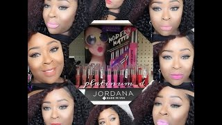 Jordana Cosmetics 2015 Spring Line Demo & Swatches