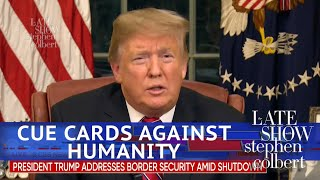 Cue Cards From Trump