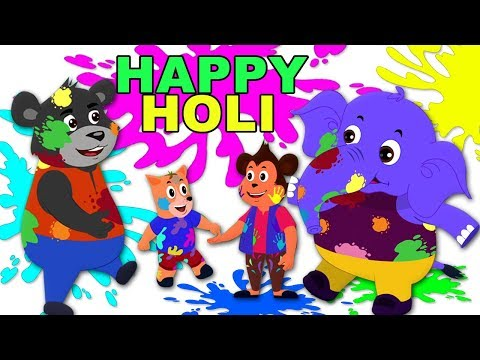 Holi Me Mach Gaya Dhamaal | Holi Songs For Kids | Childrens Hindi Poems | Kids Tv Channel India