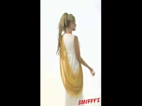 helen of troy costume white and gold video youtube - Helen Of Troy Halloween Costume