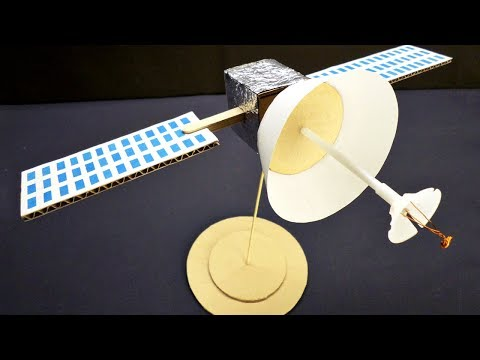 How to Make a Satellite Model - DIY Cardboard Craft