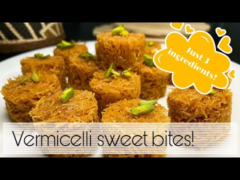 Vermicelli sweet bites   5 minutes instant sweet recipe   easy home made sweet   