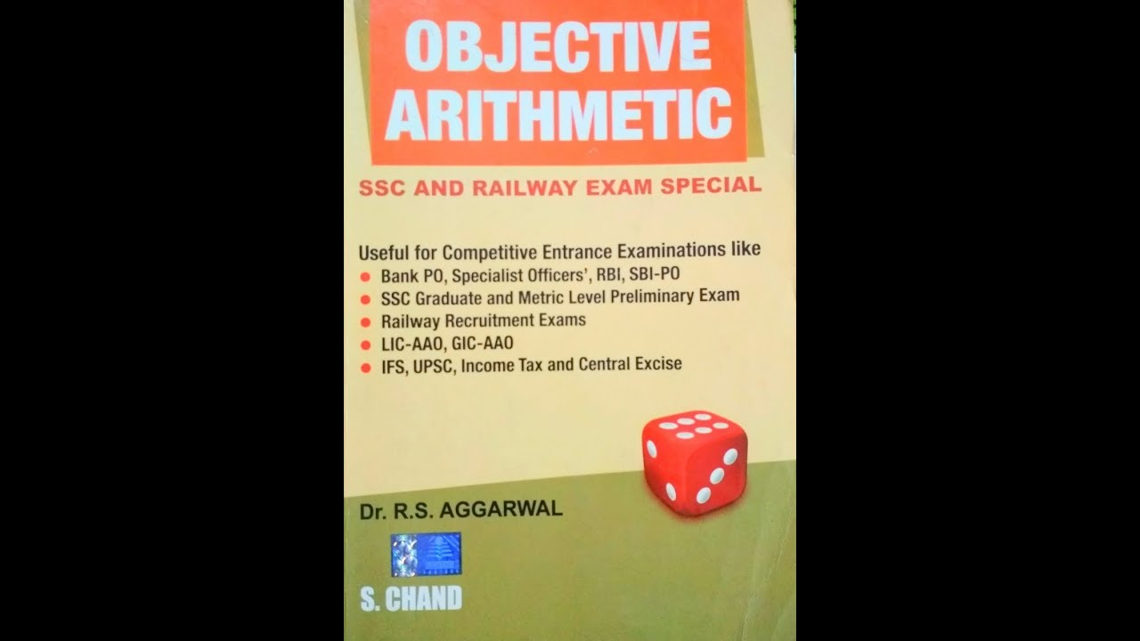 Objective Arithmetic Book By Rs Aggarwal Pdf
