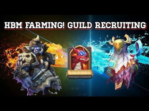 Castle Clash HBM Farming And Guild Recruiting!