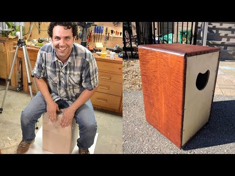 Building a cajon (box drum), with Paul