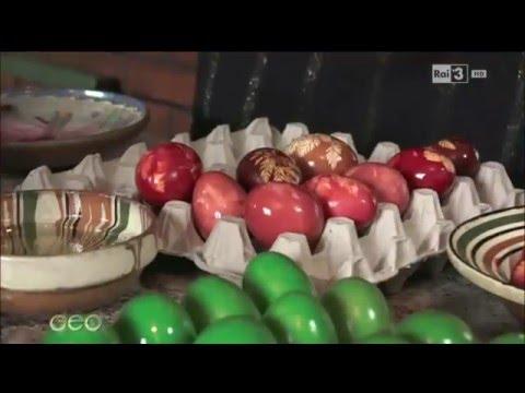 Le uova dipinte della Bucovina (Romania) - Video Geo del 28.03.2016 - Rai3 TV.