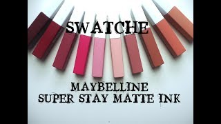 SWATCHE | SUPER STAY MATTE INK MAYBELLINE