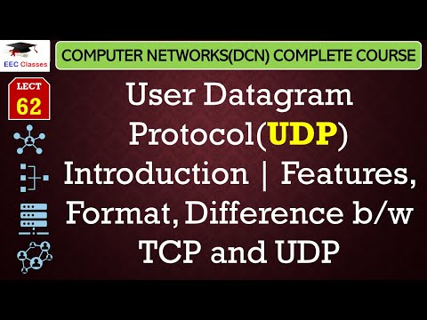 UDP – User Datagram Protocol, Features, UDP Format, Difference b/w TCP and UDP(Hindi)
