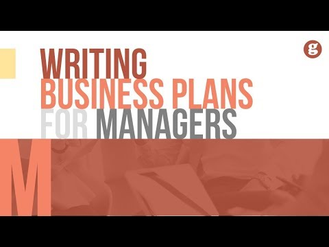 Writing Business Plans for Managers
