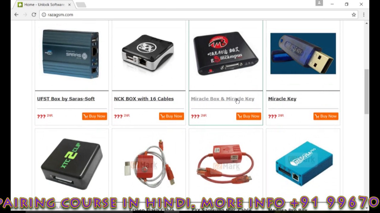Buy Mobile Flashing Box Miracle,Atf ,z3x pro box etc very low price by  Master Memory TV