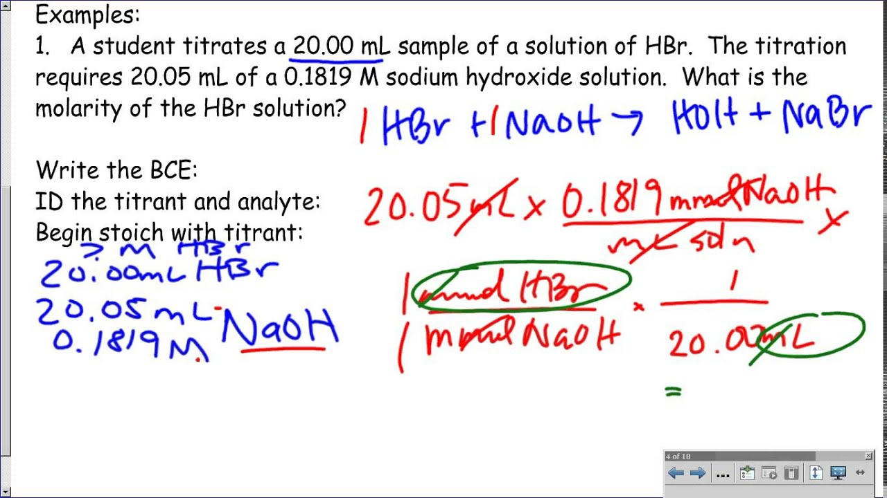 notes on titration 2017-12-28  lecture 21: titration curves and ph  titration curves and ph indicators  during a titration, you are mixing chemicals in a way that leads to a changing ph.