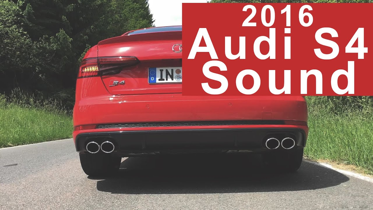 2016 Audi S4 Sound - 354PS and 500Nm 3.0 TFSI V6 Engine ...